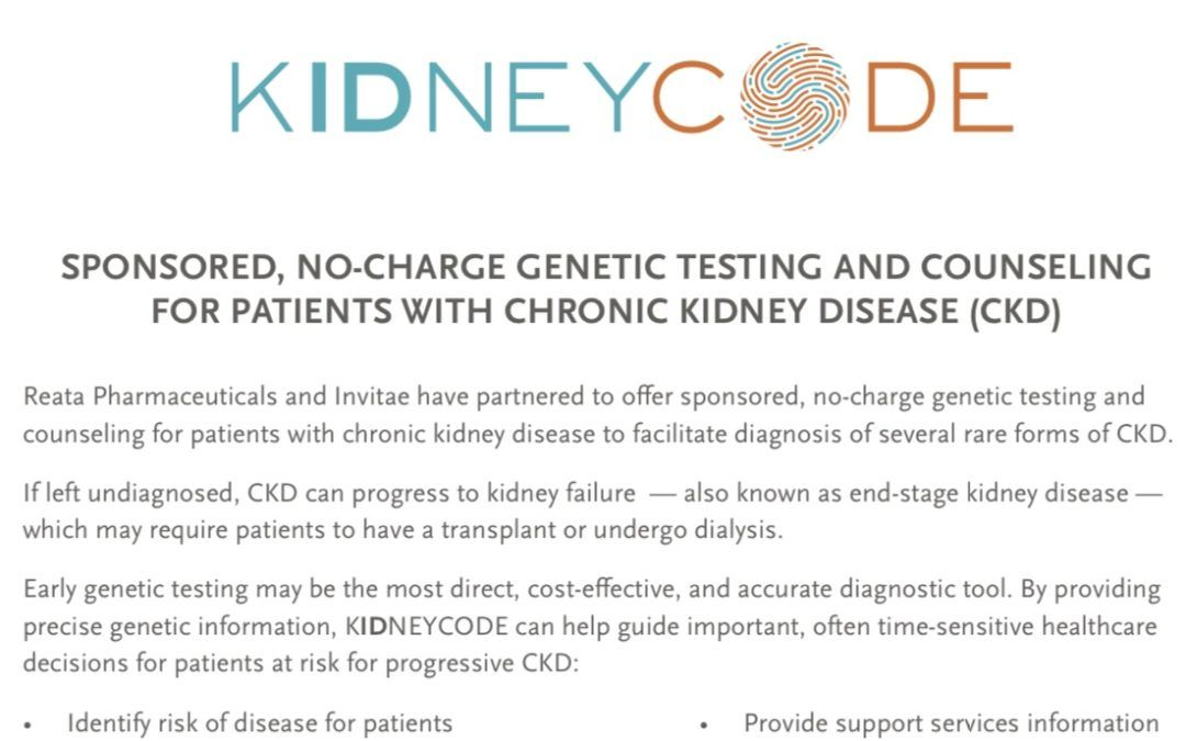No-Charge Genetic Testing Program for Alport Syndrome in the United States!
